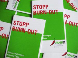 STOPP BURN-OUT, Broschüre der AUGE/UG