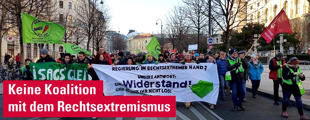 Keine Koalition mit dem Rechtsextremismus
