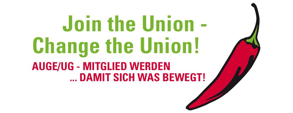 AUGE/UG Mitglied werden - damit sich was bewegt!