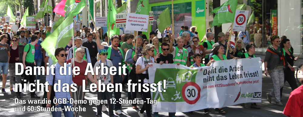 ÖGB Demo gegen 12-Stunden-Tag und 60-Stunden-Woche